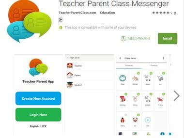 Teacher Parent Messaging Mobile Application
