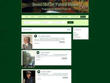 Brown McClay funeral homes Webiste