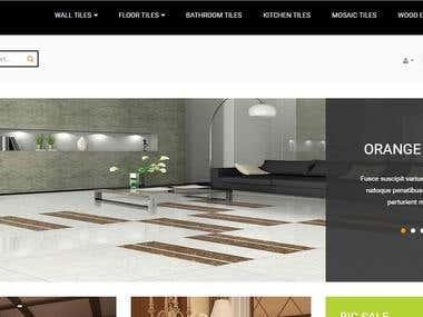 Online tiles order Portal