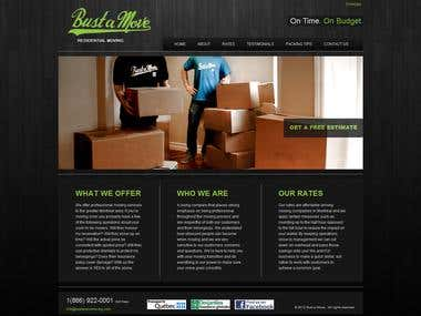 WordPress website for moving company - bilingual