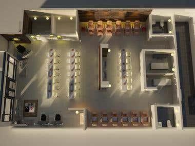 3D Interior | Nail polish salon