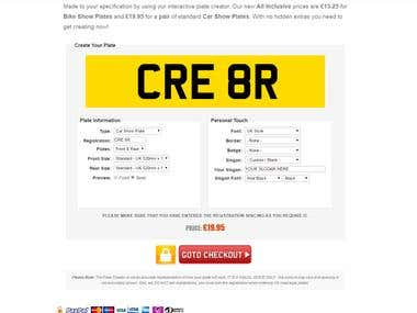 A1 Show Plates – Bike Number Plates and Car Number Plates
