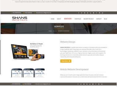 Website Design - www.shansinfotech.com