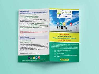 Brochure Design for ERRIN Energy Village