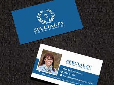 Logo, Business Card and Stationery Design for SPECIALTY