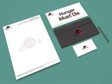 Corporate Identity Portfolio Design - Hunger must die!
