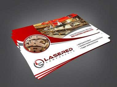 Lasered - Flyer Design for a Laser component selling company