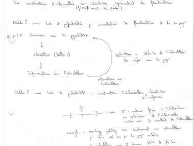 Exemple de cours manuscrit de statistiques