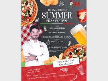 Flyer Design  |  Enjoy The Summer Pizza Festival