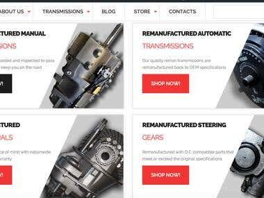 Truck Parts Website