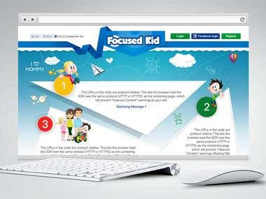 focused-kid Website