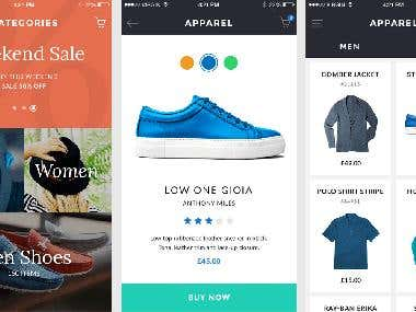 Mobile APP-> eCommerce (working)