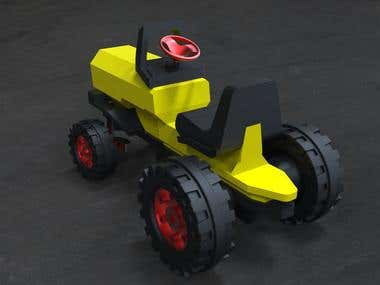 PVC tractor for kids
