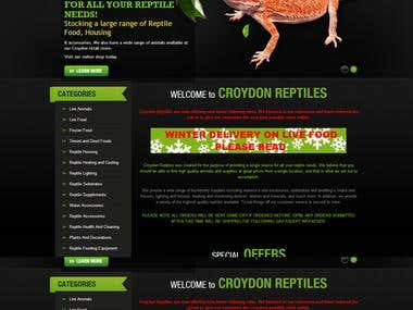 Reptile Animal Selling Website