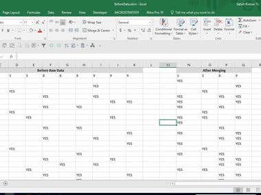 Merging the data columns into one with a Union of col data.