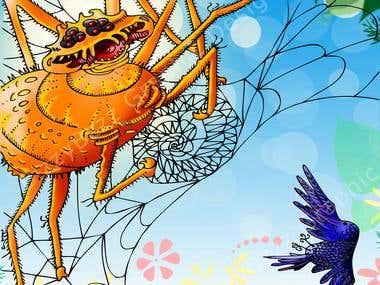 Li'l Hummingbird is caught in a dangerous web.