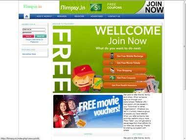 Flimpsy Reward website