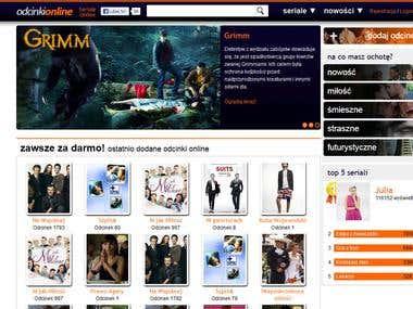 Online movie portal