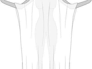 Vector Shawl Sketches in Vector