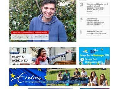 EU info Center Website design