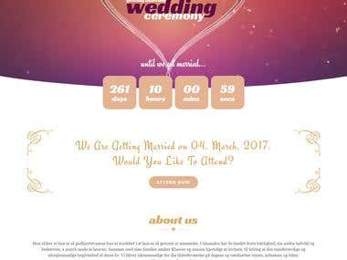 Wedding and Event Website