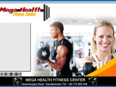Gym Leaflet and Visiting Card Project