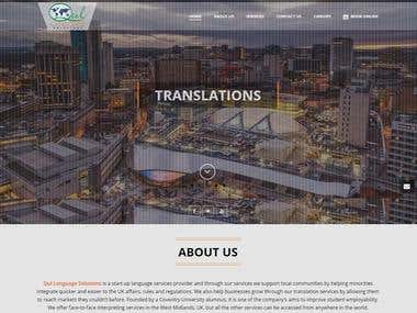 Multi Language Website