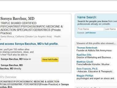 RESUME & LINKEDIN PROFILE-Psychiatrist