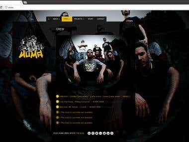 NUMA crew (WordPress site - Music)