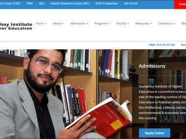 WordPress Website Development for Dadabhoy University