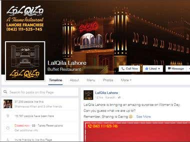 Facebook Advertising for LalQila Lahore