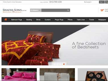 Ecommerce Website for Shafiq Sons Clifton
