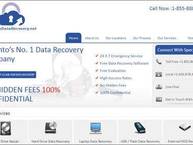 Wordpress Website for Toronto Data Recovery Canada
