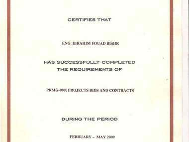 PROJECTS BIDS AND CONTRACTS