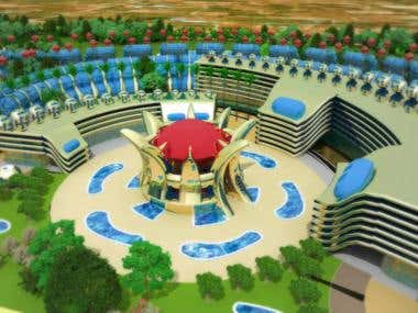Spain Torreblanca Resorts - 3d view hotel zone