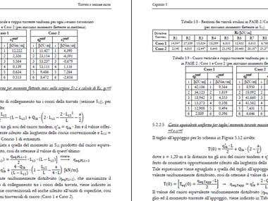 Structural calculation report (Italian).