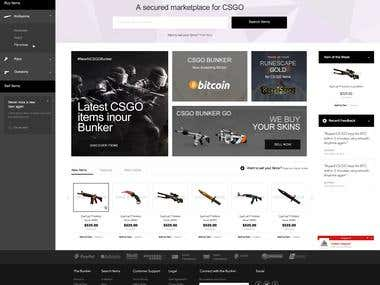 CSGO website design