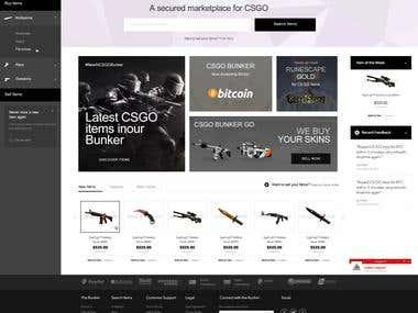 CSGO website design