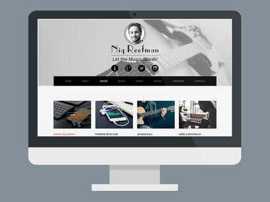 Niq Reefman Portfolio website