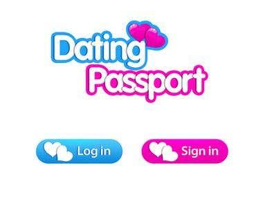 """logo design for """"Dating Passport"""""""