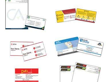 Visting Card and Letterhead