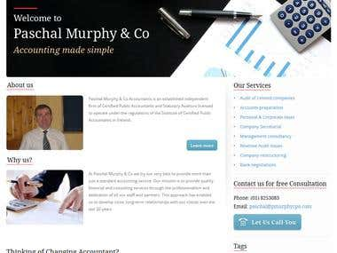 PaschalMurphy -PSD conversion to a functional WordPress site