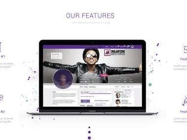 Social Landing Page Design