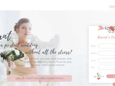 Wedding Landing Page Design