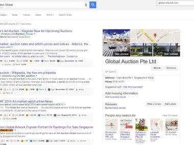 First Page Ranking Result in Google Singapore