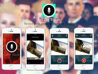 Selfie Voice -Record your voice on photo for 15 secs