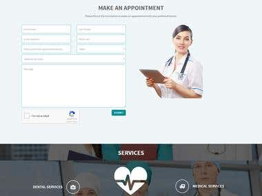 Responsive website with online appointment system