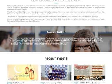 WordPress website of School