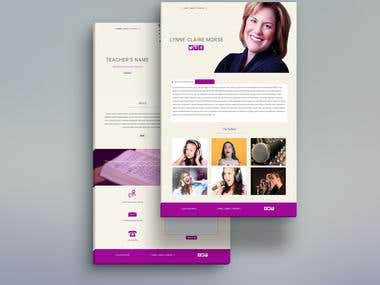 Web design for Vocal Teacher