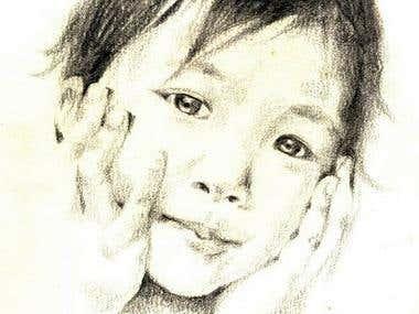 My baby sister's portrait
